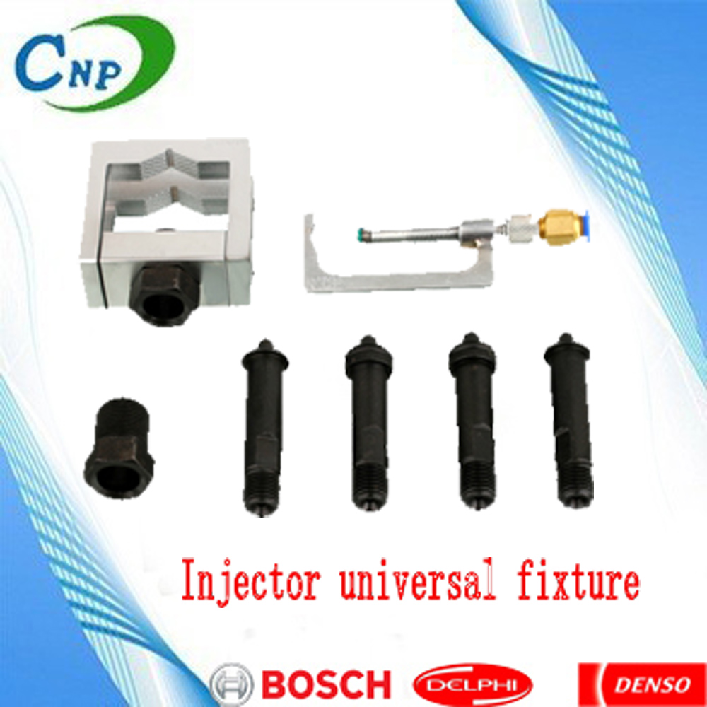 Injector universal fixture applicable to high pressure common rail injector clamp