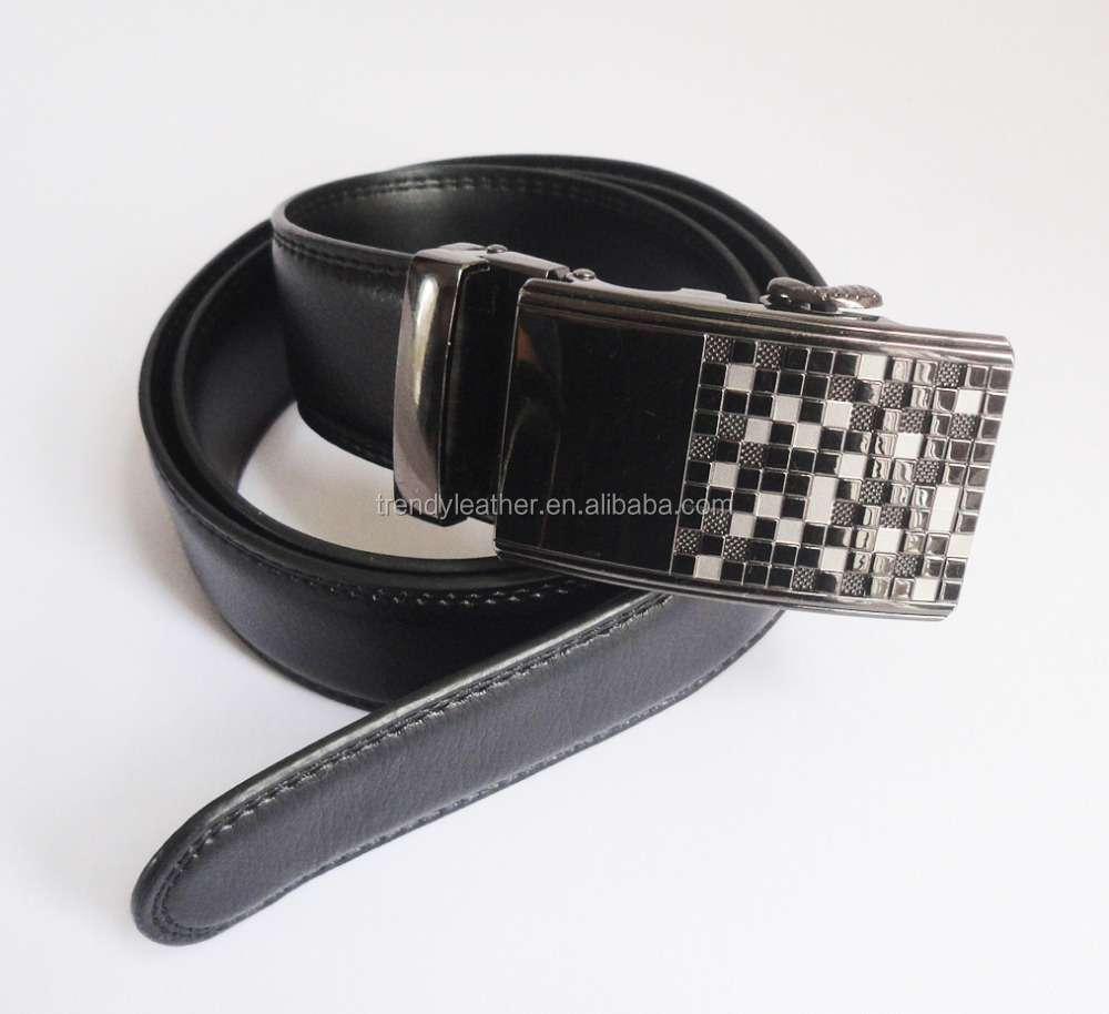 Cow split leather belt, automatic buckle genuine leather man belt