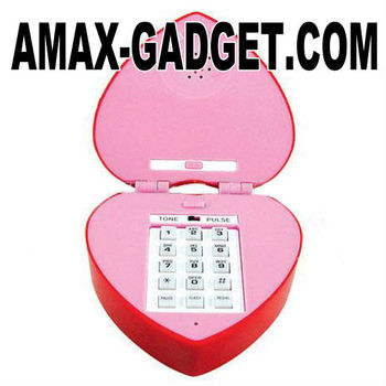 tel-6712175 Heart-shaped telephone Fashionable attractive heart-shaped telephone