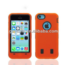 Heavy Duty Triple Defender Shock Proof Case For Iphon 5c,cell mobile phone cases in guangzhou