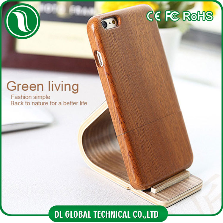 Pure wooden phone case 2 section parts installed wood mobile cover for iphone 6s case