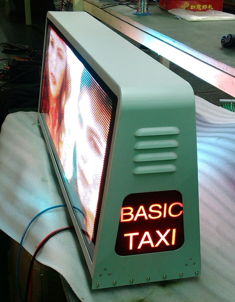 Taxi Top Advertising Led Display Free Video X China/Roof Mounting Rotate Lcd Cab Car Taxi Advertising Screen100% Response Rate