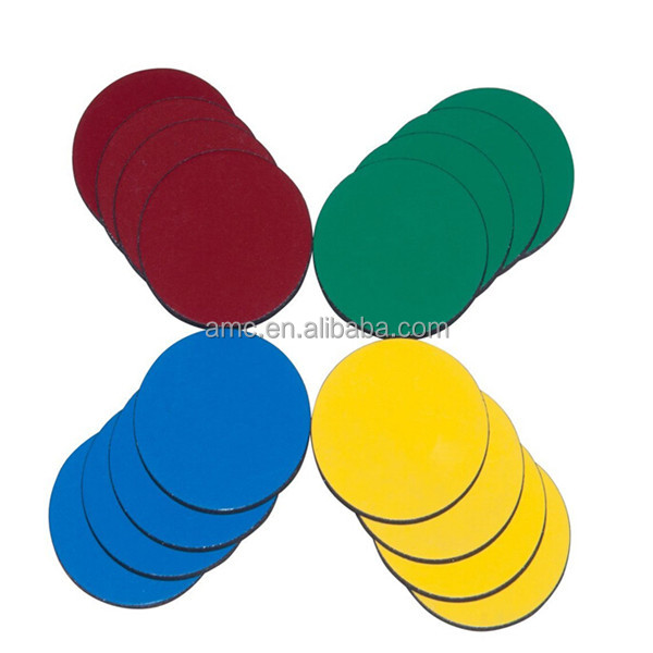 Colorful rubber round magnet