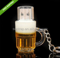 High Speed Beer Bottle 8GB 16GB 32GB Pen Drive Pendrive Usb Flash Drive For PC