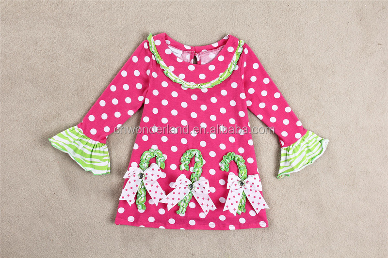 Children's ruffle clothing sets Baby Kids Autumn Christmas Boutique Outfit