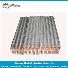 refrigeration copper tube finned evaporator,copper evaporative coil