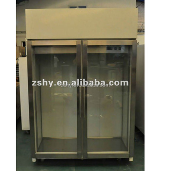 Vertical display fridge with double door