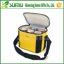 Customized neoprene portable 6 bottle wine beer ice cooler tote bag