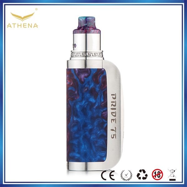 Athena Pride 75W Epoxy Resin vape mods, Resin box mod with DNA Chip