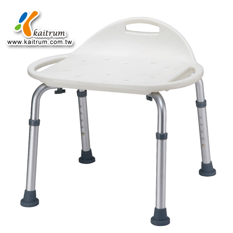 Safety care Five Section Adjustable White Bath Stool / shower stool with Handle