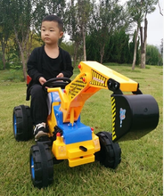 Hot Selling Children Digger Toy Kids Driving Electric Excavator Ride On Car