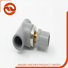 factory sell UPVC/CPVC tee plastic pipe fitting with copper tread
