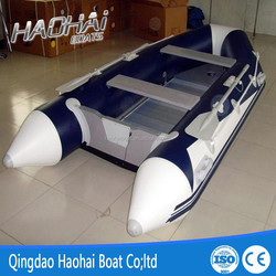 CE 9.8ft 3m pvc material aluminum floor rowing pontoon tender dinghy boat