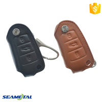 Car Genuine Leather Remote Key Cover Case For Audi A3 A4 A6 A8 TT Q7 S6 Fold Accessories