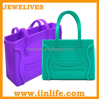 Hot new products for 2014 shoulder tote silicone rubber bag