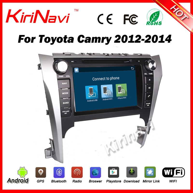 Kirinavi WC-TC8016 android 5.1 car audio radio stereo for toyota camry 2012 2013 2014 GPS navigation system quad core 16G ROM