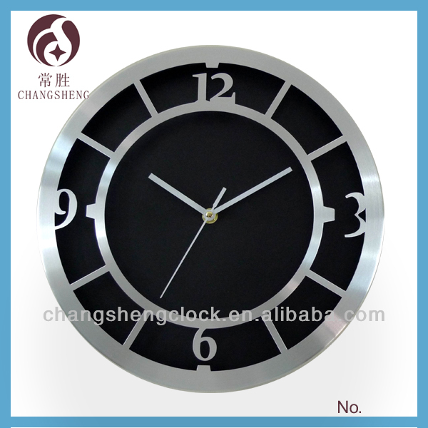 12 inch metal wall clock aluminium wall clocks decorative low price good quality