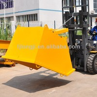Construction equipment melt movable forward track dumper tipper