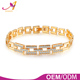 High quality free lead enc-friendly 18k gold copper chain micro pave cz women gold chain link bracelet