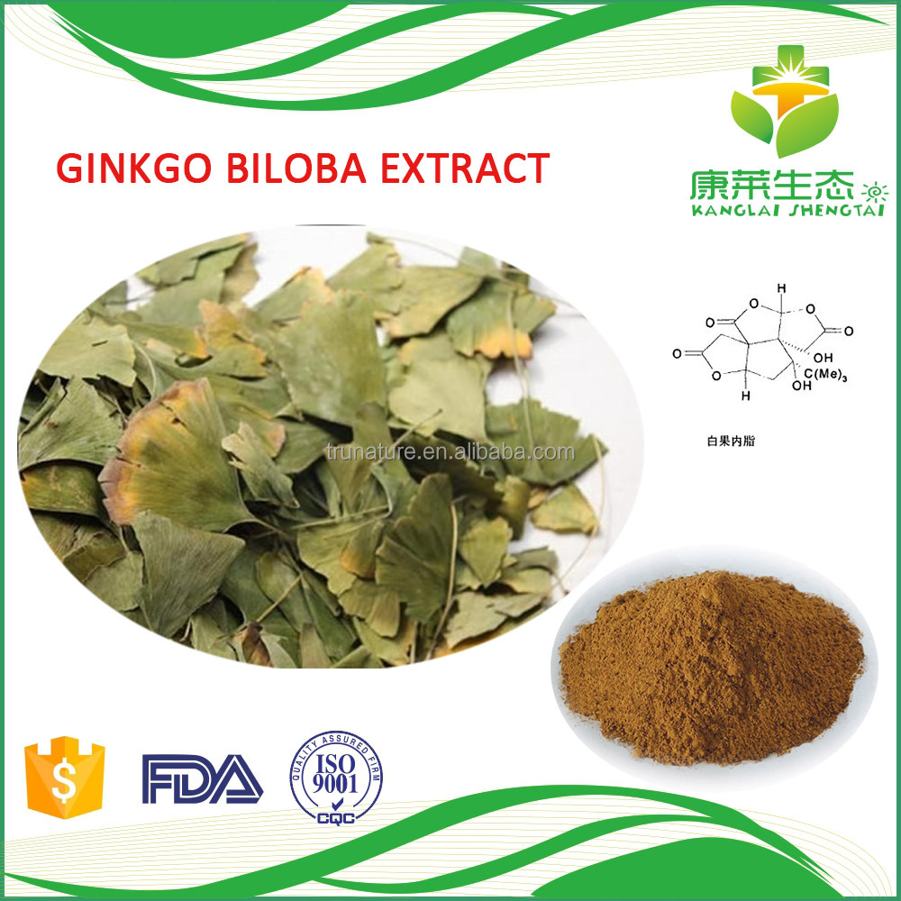 Natural Chinese Ginkgo Biloba leaf Extract/Benefit of Ginkgo Biloba Leaf for Blood Pressure Reduce