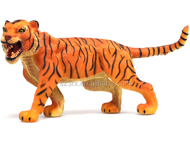 Making Wild Fierce Tiger Animals Plastic Toys/Custom PVC Stuffed Zoo Animal Statues/Simulation wild Animals Toys