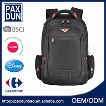 Wholesale black New Product Customize Vertical Backpack with side pocket