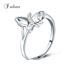 wholesale silver jewellery online 925 sterling butterfly design best friend ring R30063