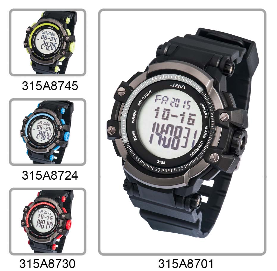 2017 Multiple Functions Sports Watches with Altimeter/Barometer