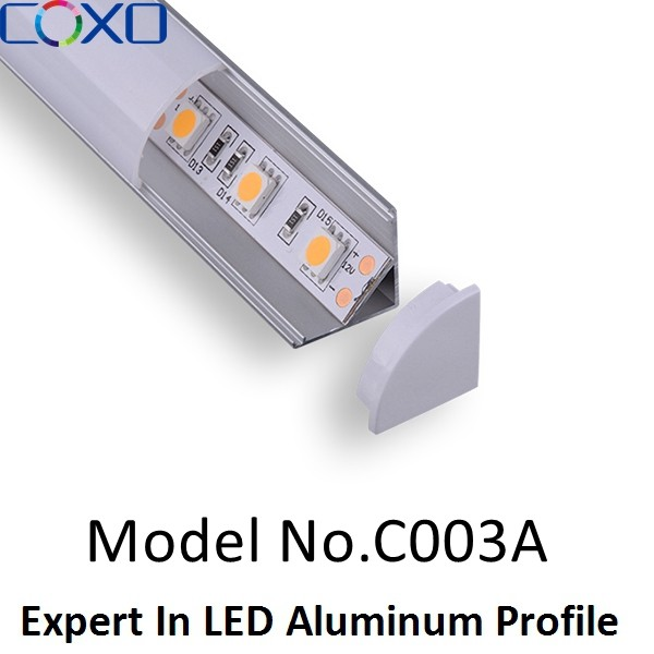 Corner 45 degree Aluminum Extrusion for LED Strips