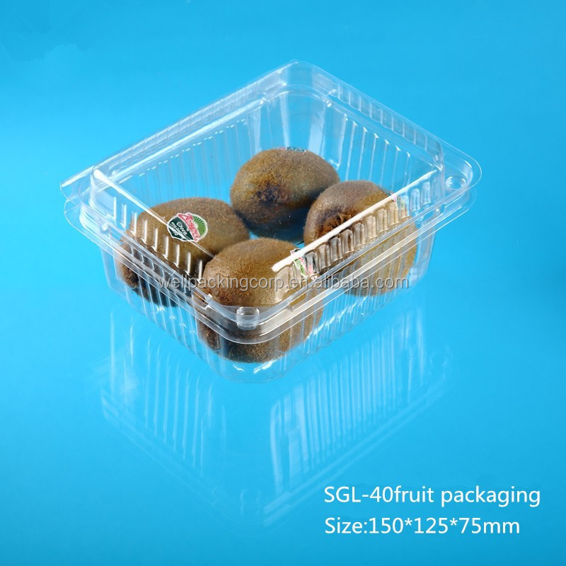 clamshell plastic PET fruit container