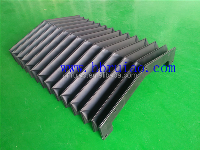 stainless steel sheets accordion protection telescopic cover for slideways
