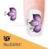 purple flowers nail art designs pictures hot sale in Germany