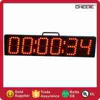 "4"" storage battery led gps clock/led wall clock/led battery wall clock"
