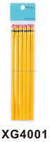 Fashion Yellow HB & 2B Wooden Black Lead Writing Pencil with Eraser