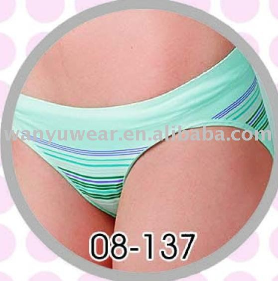 hot sell stripes ladies seamless hipster panty boyshort