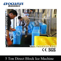 Industrial 5 ton block ice machine for crusher machine
