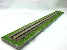 wholesale custom plastic railroad model ho scale train track for display