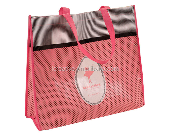 Wholesale fashion Non woven hand bag with logo for shopping