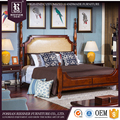 American Neo classical customizable solid wood fashion bedroom furniture sets bedroom design