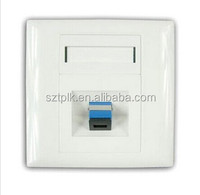 Fiber Optic FTTH Indoor 1Port Face Plate