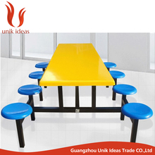 Fiberglass dining room table FRP fast food restaurant table and chair