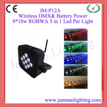 9pcs 15W RGBWA Wireless DMX Battery Power Led Par64 Led Par Light