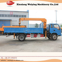 Quality assurence load and unload crane boom truck