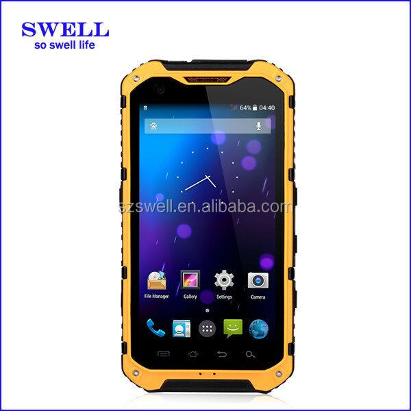 A9 rugged nxp smartphone with NFC function 4.3inch android4.4 MTK6582 rugged phone tri sim card mobile phones