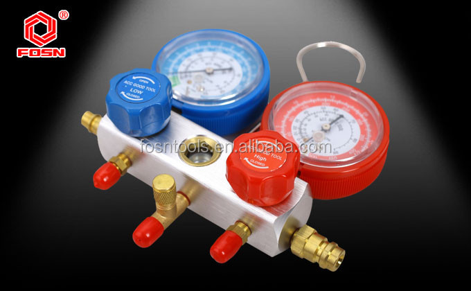 R134A 3000PSI rubber hoses refrigerator temperature gauge for refrigerator repair tools