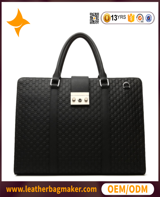 2017 new product black brand business men's bags