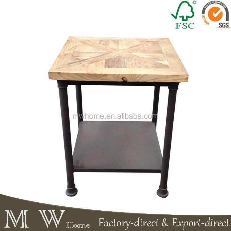 Mrs Woods Minimalist Industrial Iron Living Room Furniture Side Table