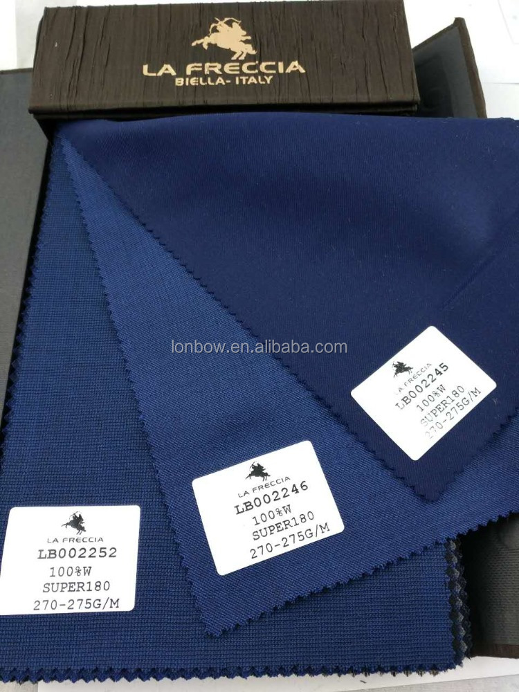 High quality twill soft wool material suiting fabric super 180's stock