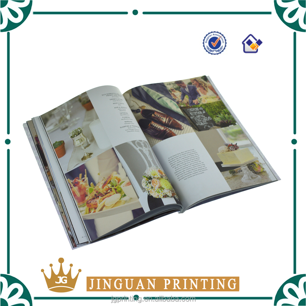 High quality coloring printing fashion book wholesale custom magazine