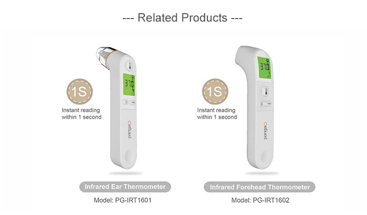 Instant Read Medical Digital Non-contact Digital Infrared Head and Ear Thermometer